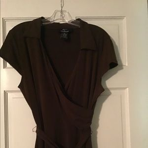 Nina Leonard Brown Dress- Size XL. Beautiful!